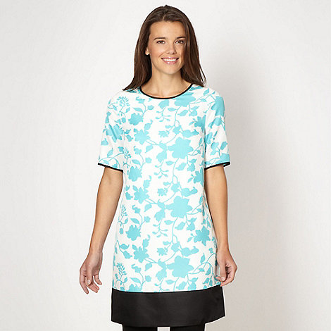 Jonathan Saunders/EDITION - Designer turquoise floral tunic dress