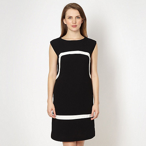 preen-edition - Designer black monochrome panel dress