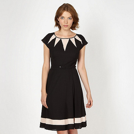 Jonathan Saunders/EDITION - Designer black geometric panel dress