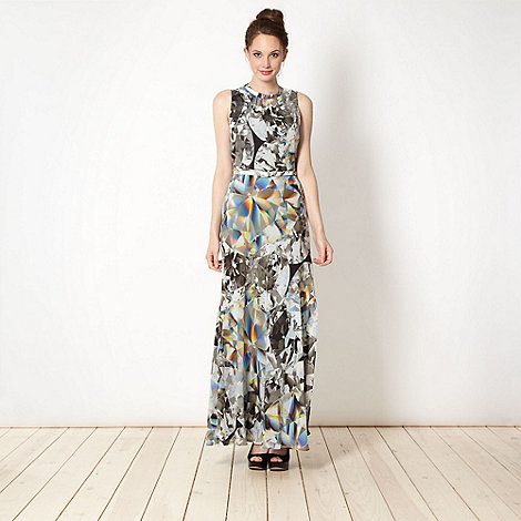 Marios Schwab/EDITION - Designer black diamond print maxi dress
