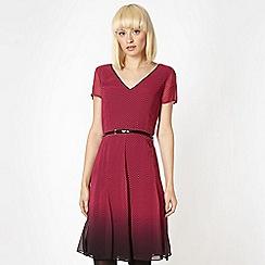 Jonathan Saunders/EDITION - Designer dark pink herringbone dress