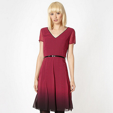 Jonathan Saunders/EDITION - Designer dark pink herringbone dress