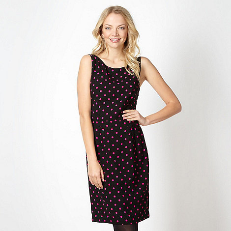 jonathan-saunders-edition - Designer black spotted crepe dress
