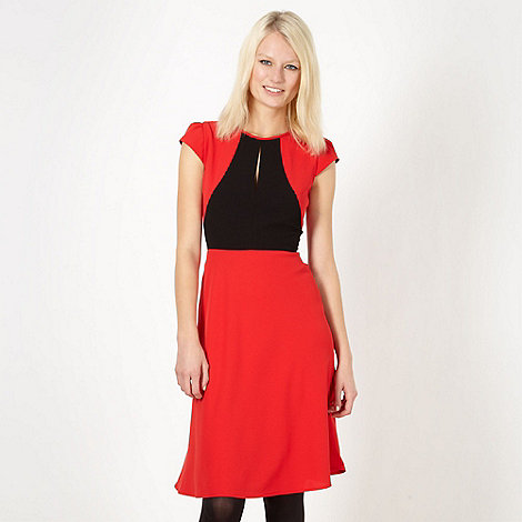 Jonathan Saunders/EDITION - Designer red colour block cocktail dress