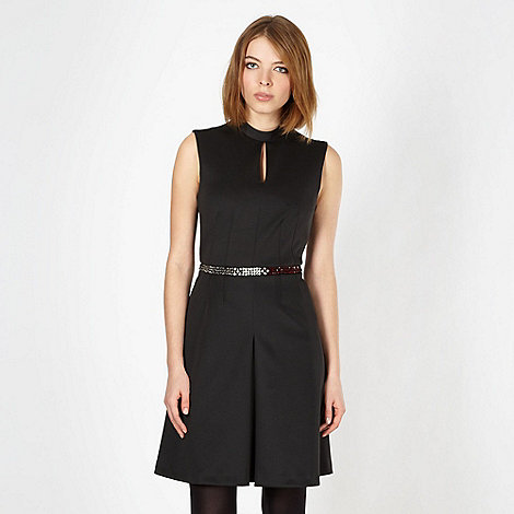 Marios Schwab/EDITION - Designer black embellished keyhole dress