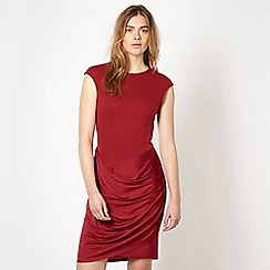 Todd Lynn/EDITION - Designer cherry red jersey drape dress