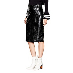 Studio by Preen - Black vinyl skirt
