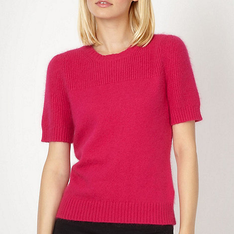 Jonathan Saunders/EDITION - Designer bright pink fluffy knit jumper