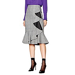 Studio by Preen - Grey checked frill skirt