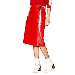 Studio by Preen - Red vinyl pencil skirt
