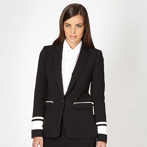 Preen/EDITION - Designer black striped cuff blazer