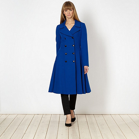 Jonathan Saunders/EDITION - Designer royal blue fit and flare coat