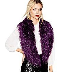 Studio by Preen - Purple faux fur stole