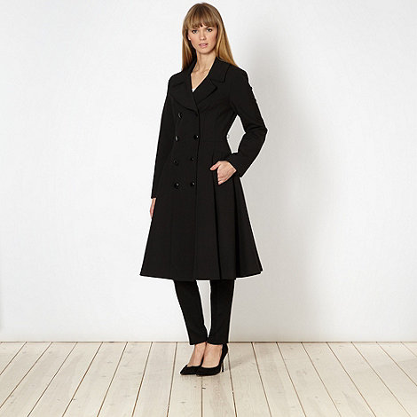 Jonathan Saunders/EDITION - Designer black fit and flare coat