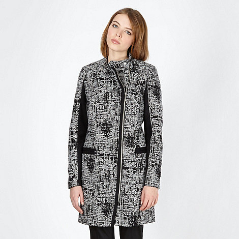 Preen/EDITION - Designer black textured woven coat