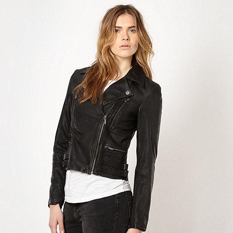 Todd Lynn/EDITION - Designer black leather biker jacket