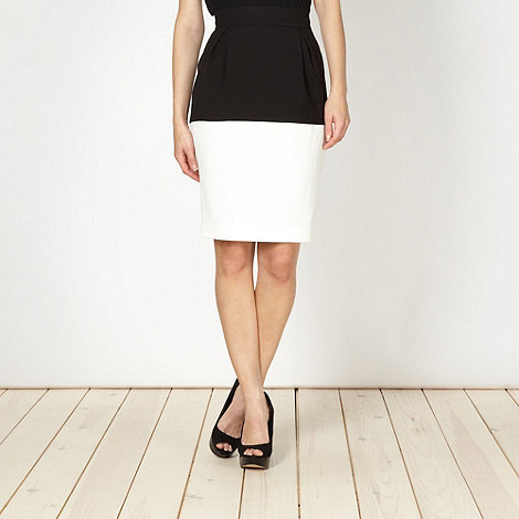Preen/EDITION - Designer black colour block skirt