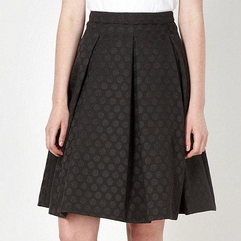 Jonathan Saunders/EDITION - Designer black jacquard spotted skirt