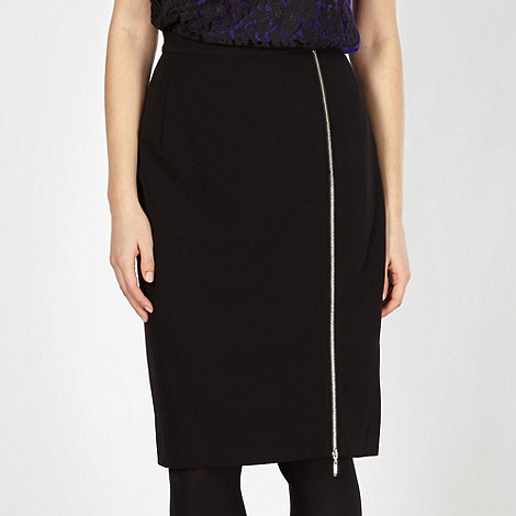 Preen/EDITION - Designer black lace insert skirt