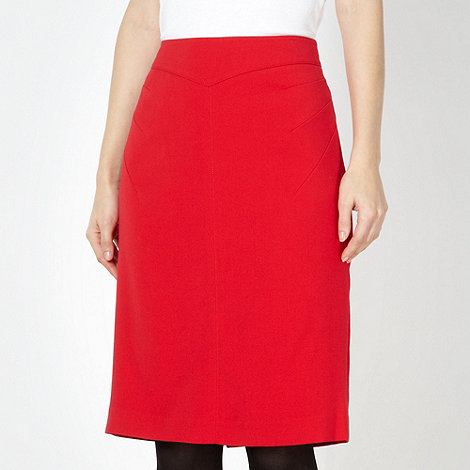 jonathan-saunders-edition - Designer red seam detail high waisted skirt