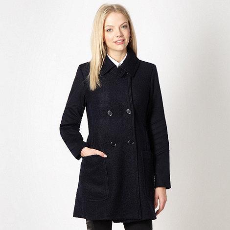 Preen/EDITION - Designer navy boucle coat