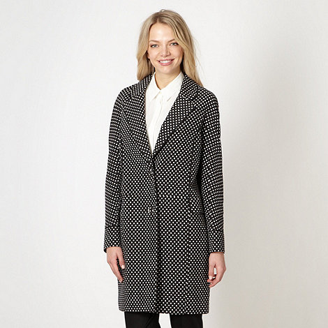 jonathan-saunders-edition - Designer black jacquard spotted coat