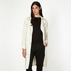 Jonathan Saunders/EDITION - Designer off white drape mac coat