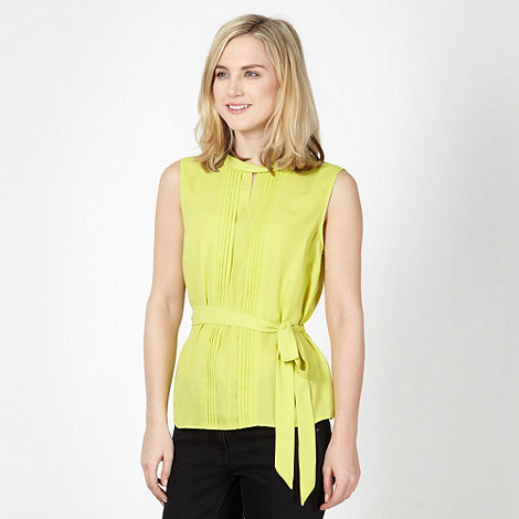 Jonathan Saunders/EDITION - Designer lime pleated shell top