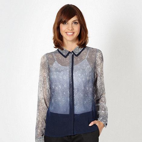 Preen/EDITION - Designer taupe python chiffon blouse