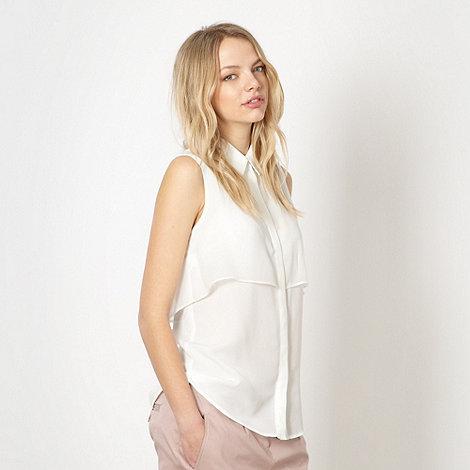 Preen/EDITION - Designer ivory layered blouse