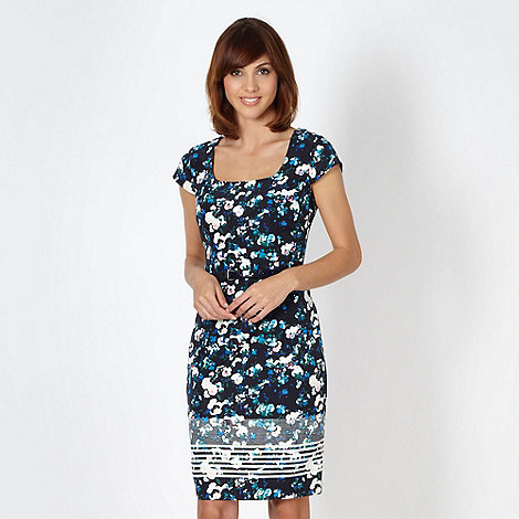 Preen/EDITION - Designer navy winter pansy dress
