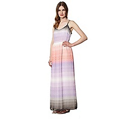 Jonathan Saunders/EDITION - Designer purple geometric stripe ombre maxi dress