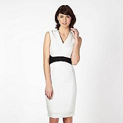 Jonathan Saunders/EDITION - Designer ivory contrast linen dress
