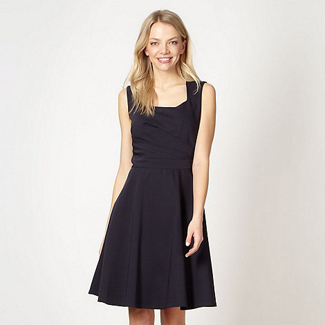 Preen/EDITION - Designer navy fit and flare dress