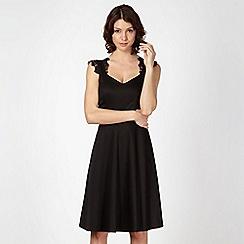 Preen/EDITION - Designer black lace shoulder dress