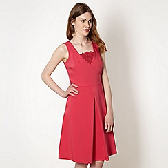 Preen/EDITION - Designer pink lace insert prom dress