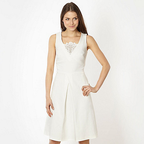 Preen/EDITION - Designer ivory lace insert prom dress