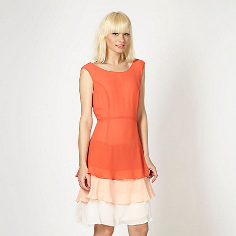 jonathan-saunders-edition - Designer orange layered frill dress