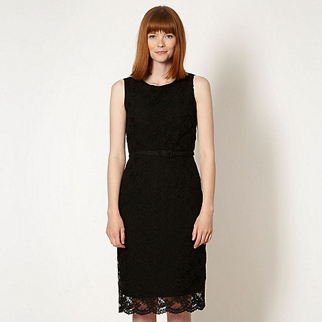 Preen/EDITION - Designer black floral lace dress
