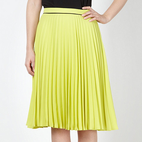 Jonathan Saunders/EDITION - Designer lime pleated skirt