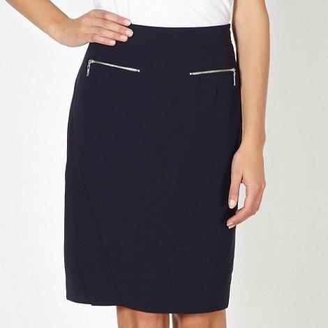 Preen/EDITION - Designer navy zip detail biker skirt