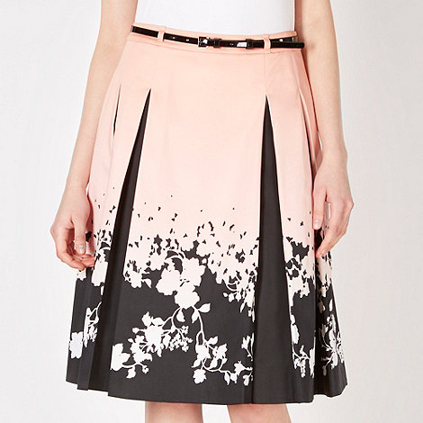 Jonathan Saunders/EDITION - Designer peach pleated ombre border skirt