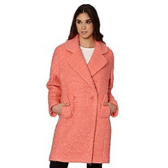 Jonathan Saunders/EDITION - Designer pink boucle double breasted coat