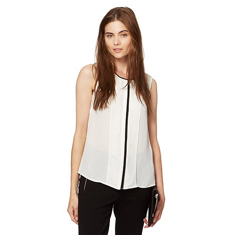 Preen/EDITION - Designer ivory contrast trim blouse
