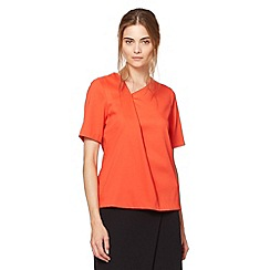 Preen/EDITION - Designer orange crepe asymmetric top
