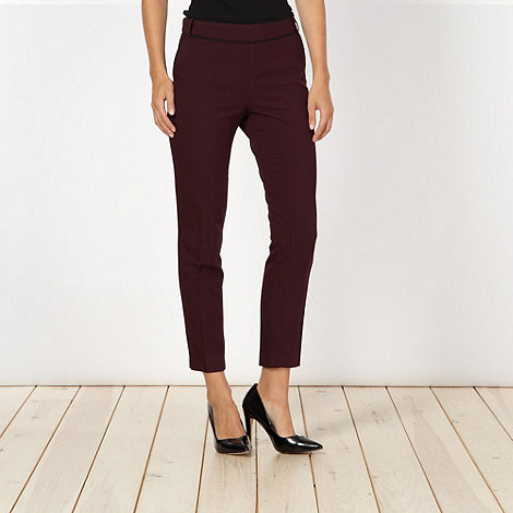 jonathan-saunders-edition - Designer wine soft trousers