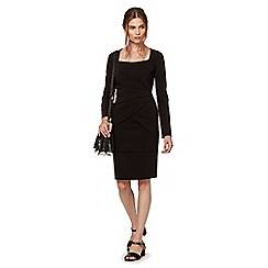 Preen/EDITION - Designer black pleated dress