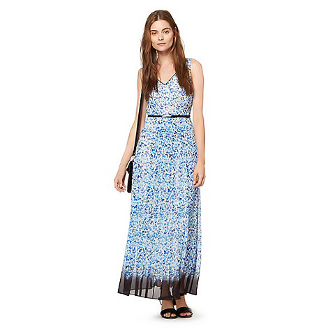 Preen/EDITION - Designer blue butterfly printed maxi dress