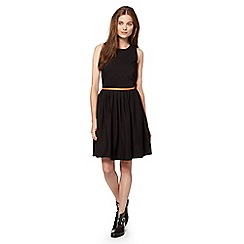 Preen/EDITION - Designer black cut away skater dress