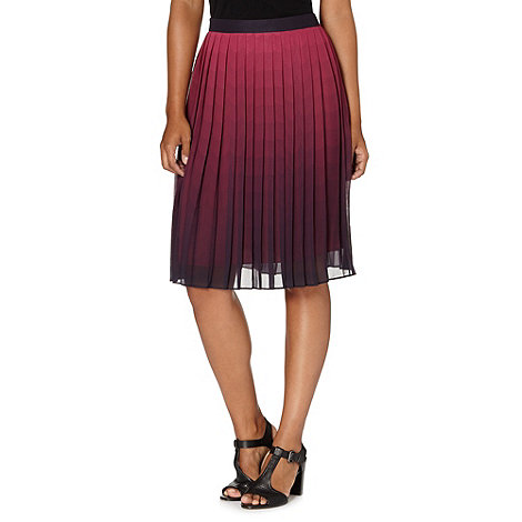 jonathan-saunders-edition - Designer dark pink ombre scallop pleated skirt
